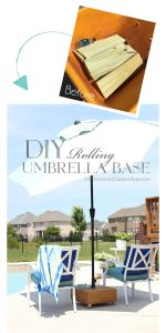 DIY Rolling Umbrella Base from confessionsofaserialdiyer.com