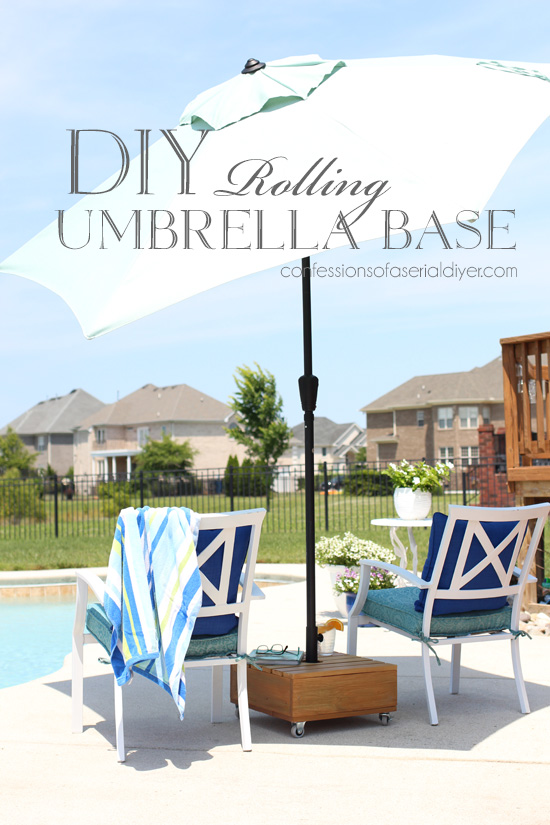 DIY Rolling Umbrella Base