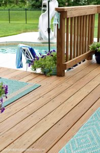 How we stained our old weathered deck.