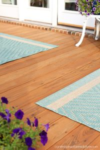 Staining the deck with Thompson's Waterseal.