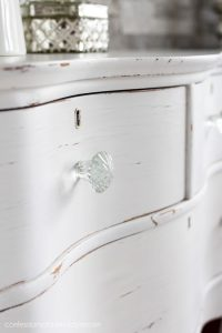 Glass knobs always add a bit of sparkle!