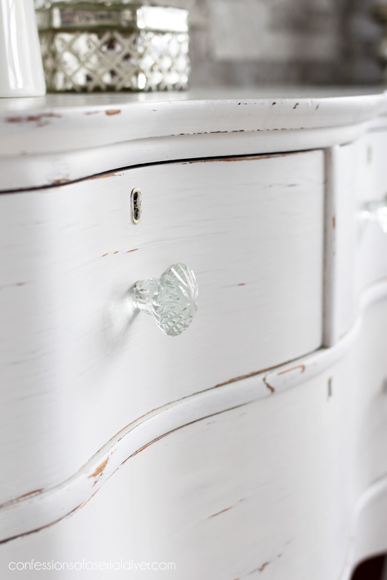 Glass knobs always add a bit of sparkle!