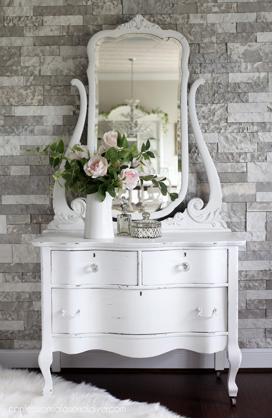 Antique Serpentine Dresser Makeover from confessionsofaserialdiyer.com