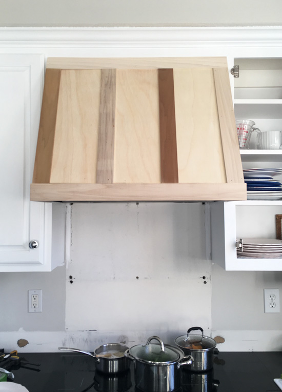 DIY Range hood cover from confessionsofaserialdiyer.com