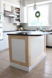 How to add beadboard to kitchen island