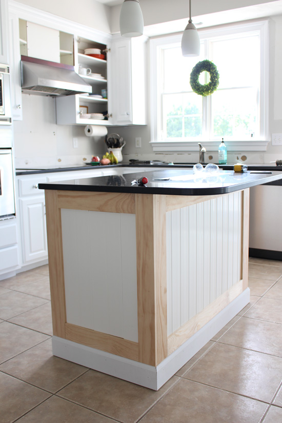 How to add beadboard to kitchen island