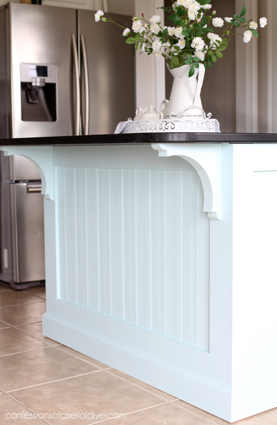 Kitchen Island Makeover With Beadboard Confessions Of A