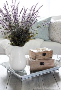Spray paint is an easy way to update decor on a budget!