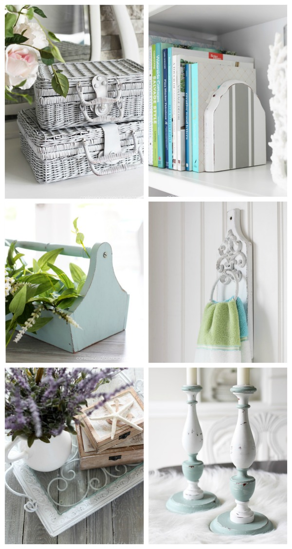 Paint can do wonders to turn forgotten items into pretty new home decor! confessionsofaserialdiyer.com