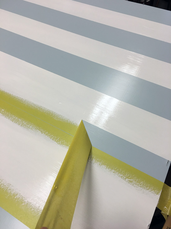 FrogTape is perfect for adding stripes to furniture