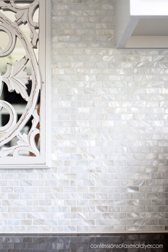 Mother-of-Pearl backsplash tile
