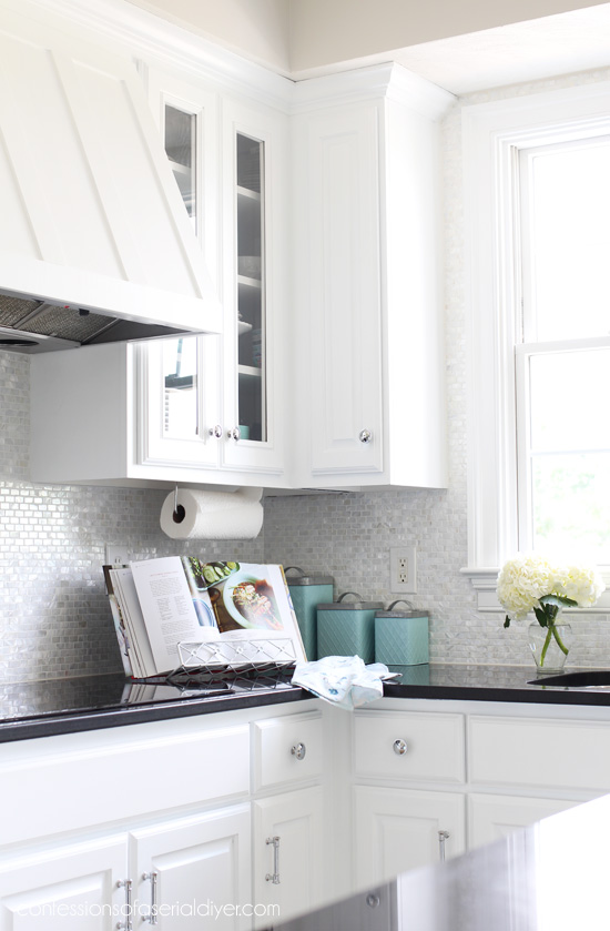 How to install a mother of pearl backsplash confessions - How to replace backsplash ...