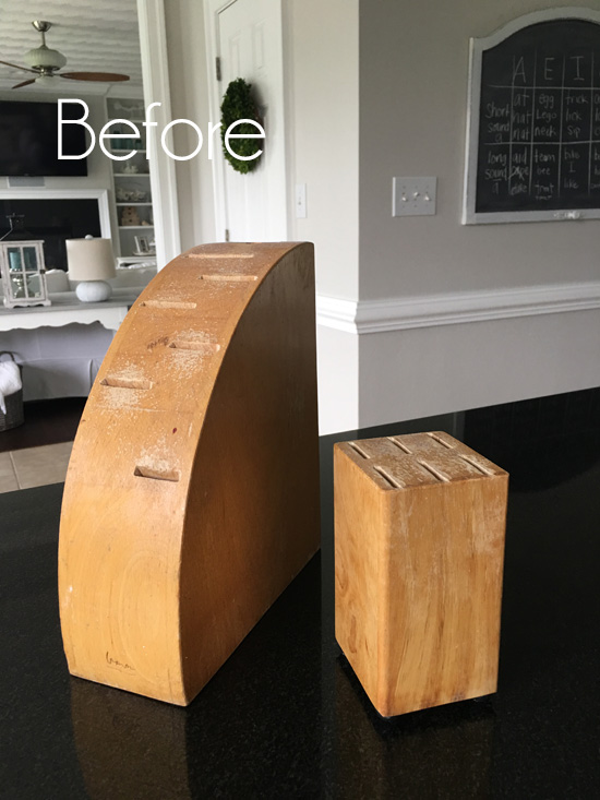 Knife Block Makeover