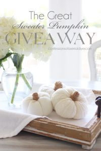 Sweater Pumpkin Giveaway!