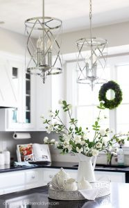 French country chrome pendant lights