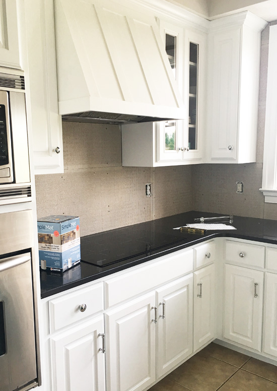 How to Install a Mother of Pearl Backsplash | Confessions of ...