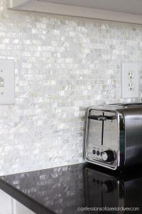Mother-of-Pearl backsplash tile