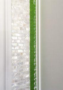 Hanging backsplash tile
