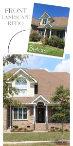 Front Landscape planning and makeover from confessionsofaserialdiyer.com