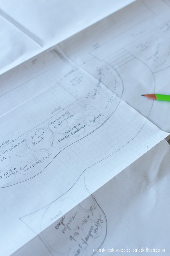 Sketch a to-scale version of your existing landscape to see what might fit in plant-wise.