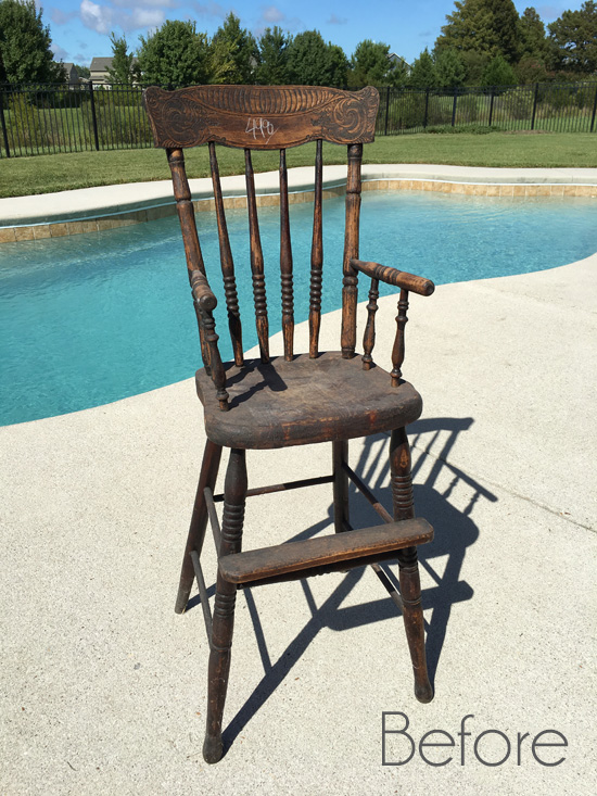 $5 Antique High Chair Makeover