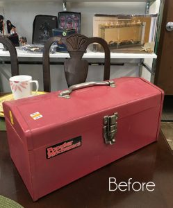 $7 Metal Toolbox Makeover