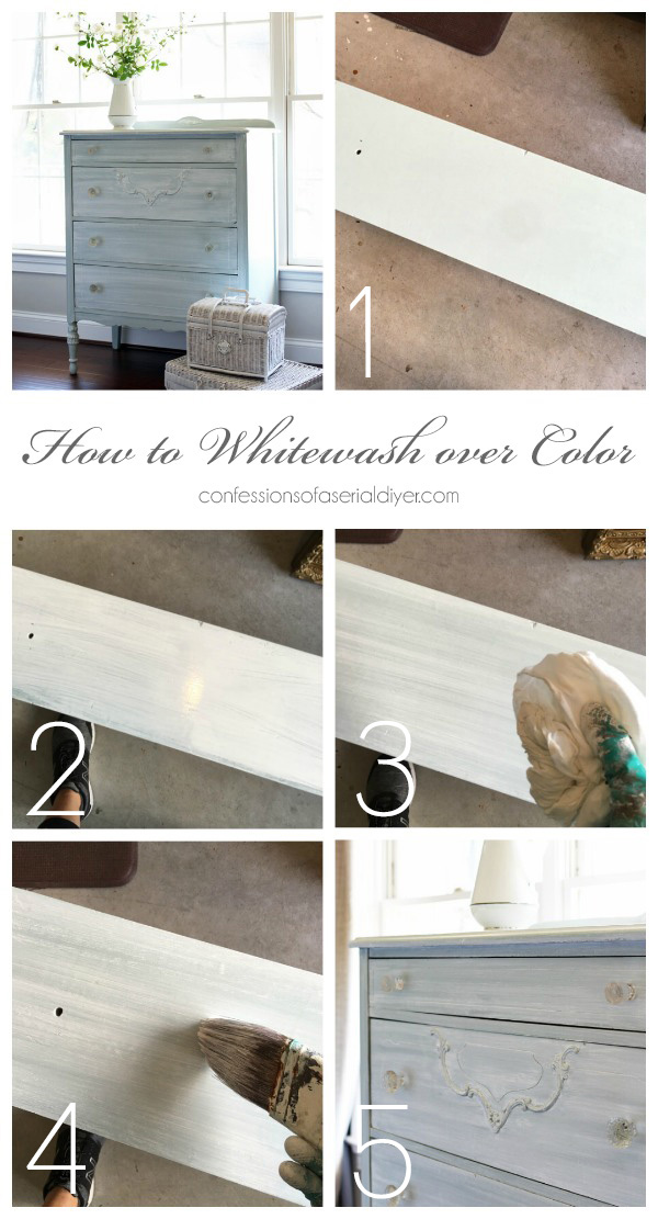How to whitewash over color.