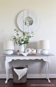Whitewashed coastal mirror from confessionsofaserialdiyer.com