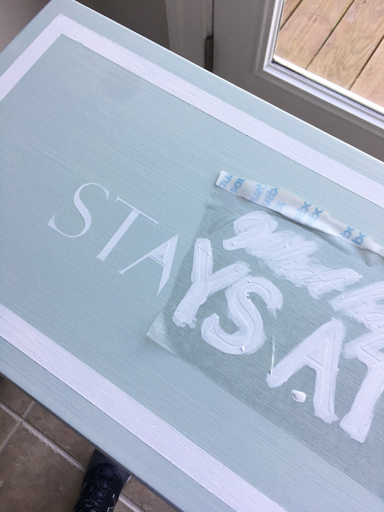 Use a silhouette cameo to create stencils!