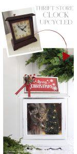 Turn an old Clock into a Christmas Shadow Box!