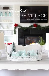 Painted Christmas Village