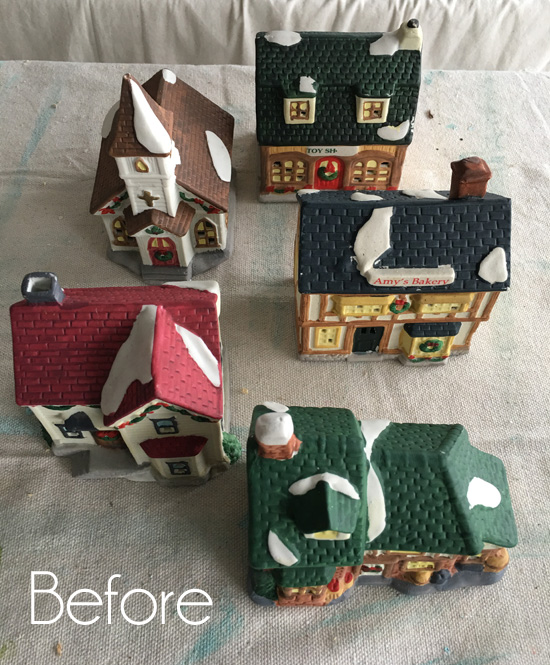 How To Store Christmas Village Houses.Painted Christmas Village Confessions Of A Serial Do It