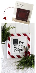 Turn an old cabinet door into this whimsical Christmas Countdown!