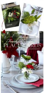 Make beautiful place cards from grocery store flowers!
