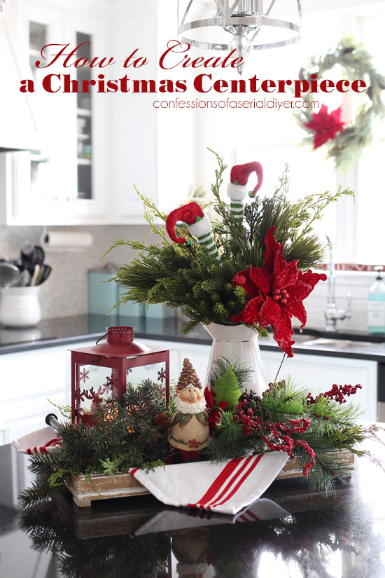 A Simple way to Create a Christmas Centerpiece