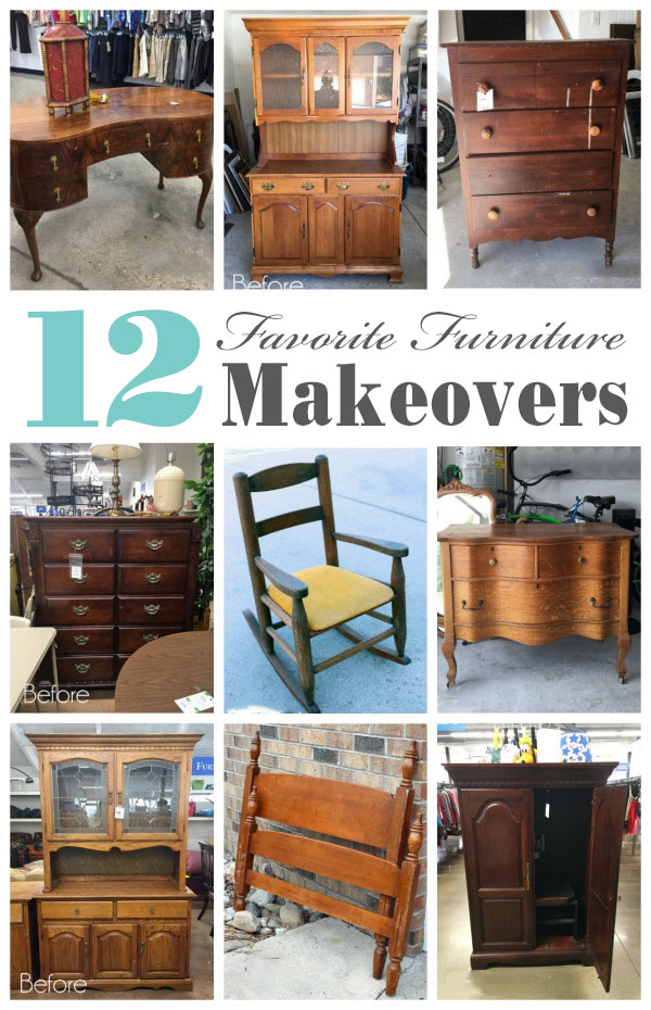 12 Top Thrift Store Furniture Makeovers