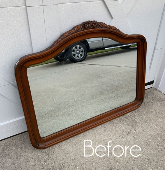 Pretty Thrift Store Mirror Makeover