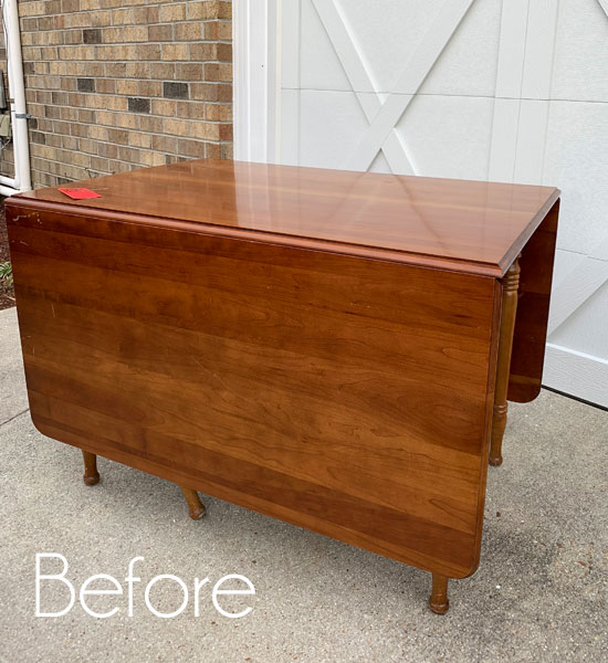 Thrift Store Clearance Drop-Leaf Table Makeover