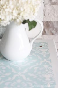 Remove the sides of a drop leaf table to reveal a more petite, better functioning table!