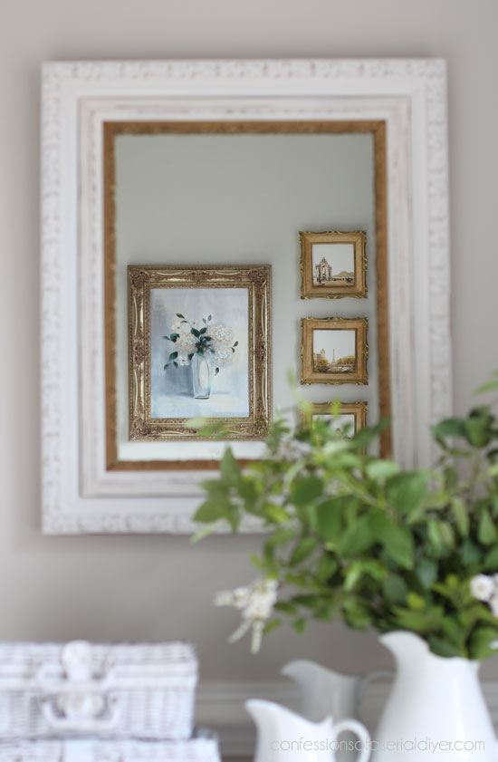 New Mirror Frame from a Thrift Store Frame