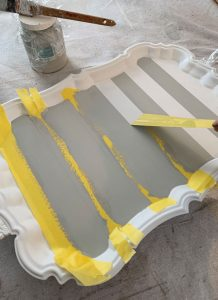 FrogTape for delicate surfaces is perfect for getting super crisp stripes.