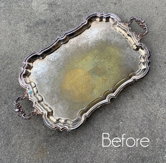 Silver Tray Makeover