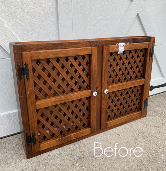 $10 Thrift Store Wall Cabinet Makeover