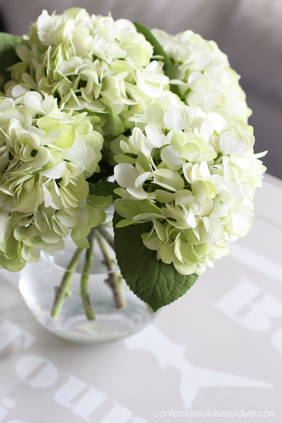 the best faux hydrangeas!!