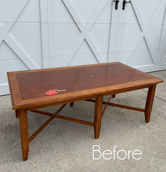 $30 Thrift Store Coffee Table Makeover