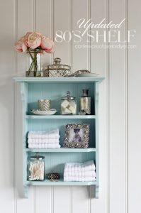 80's shelf makeover