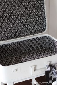 Lining the inside of a suitcase isn't too hard!