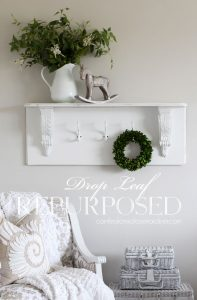 Shelf made from a drop leaf from confessionsofaserialdiyer.com