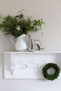 Turn an old drop leaf into a shelf!