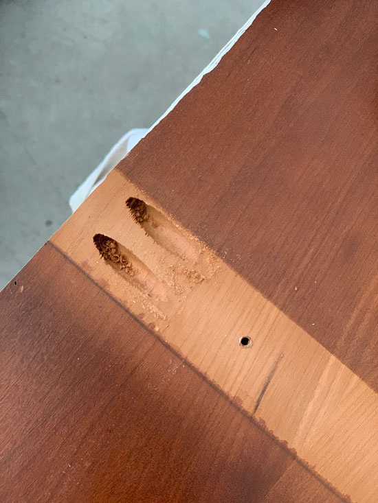 Perfect pocket holes created by a Kreg Jig